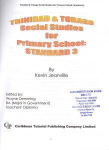 T&T Social Studies for primary school Infants 1 to Std 5.10