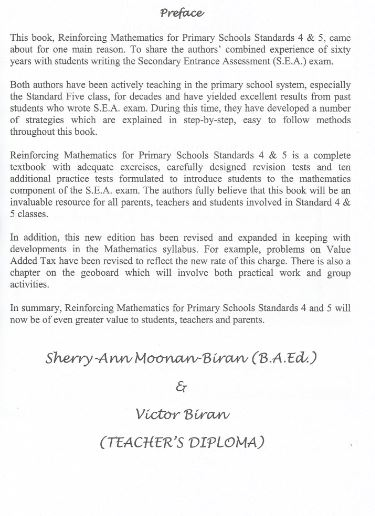 Reinforcing Mathematics for Primary Schools Standards 4 & 5